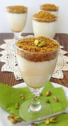 Serves 10 Ingredients: 3 1/2 cups non-dairy milk 1 1/2 cup water 12 tbsp corn starch 250ml coconut cream 1 1/2 tsp mastic powder 2 tbsp blossom water 280gr pistachio kernels, raw 1/3 cup map…