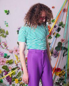 90s vintage tshirt minimal green white striped tee retro | Etsy Vintage Tees, Unique Vintage, Vintage Shops, Blue Yellow, Green, Yellow T Shirt, Pastel Purple, Vintage Outfits, Vintage Clothing