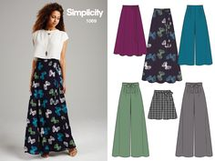 Score style points in your weekend getaway! This maxi skirt pattern has options for cropped wide leg pants, a mid-length skirt, or wide leg shorts.