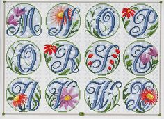 Sierlijk bloemenalfabet - deel 2