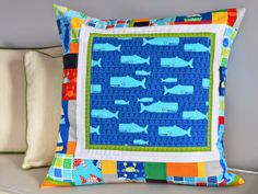 bijou lovely: don't be crabby pillow | fabric by Laurie Wisbrun