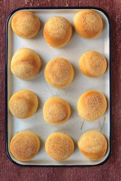 The dough for this traditional Philippine bread is rolled to achieve a pillow-soft texture, and then dusted with bread crumbs prior to baking.