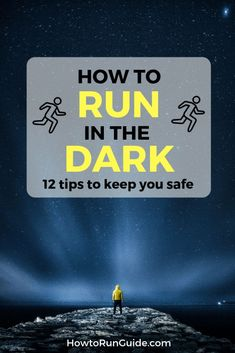 Learn how to run in the dark safely to get your run in (even if the sun isn't out). Running in the dark is different than daytime running, but do you know ALL of these 12 important tips? Find out how to run in the dark safely! Running Routine, Running Workouts, Running Tips, Trail Running, Easy Workouts, Learn To Run, How To Start Running, How To Run Faster, Running In The Dark