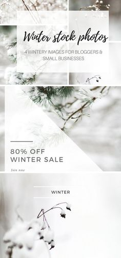 50 % OFF Winter stock photos  by Nellaino on @creativemarket
