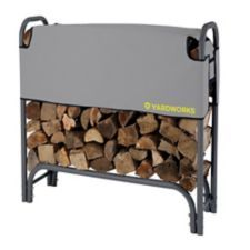 Yardworks Firewood Rack features an open air design - maximum airflow is achieved through half cover design which provides ventilation to accelerate wood seasoning and keeps top levels dry Firewood Rack, Canadian Tire, Back Doors, Wood Blocks, Cover Design, Cottages, Trailers, Yard, Dreams