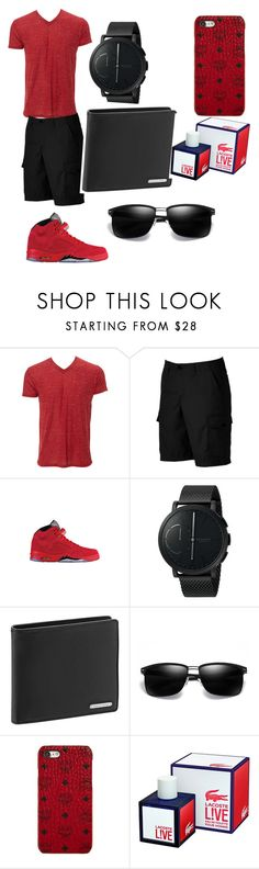 """""""red all day men"""" by jw2009 ❤ liked on Polyvore featuring Simplex Apparel, Urban Pipeline, Skagen, Porsche Design, MCM, Lacoste, men's fashion and menswear"""