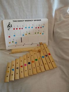 Wooden Xylophone Instrument 2 Mallets Easel Stand Cardboard Sheet Music Songs  #UnbrandedGeneric