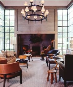 McAlpine Tankersley Architecture Invitation » McAlpine Tankersley Architecture-corner windows and fireplace wall-the nooks and paneling above