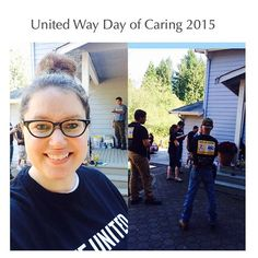 Some of our @communityhealthplanwashington employees are volunteering their time at the @unitedwaysnoco #DayofCaring today in Everett! They are partnering with #FriendsofYouth to renovate a house for a foster family and are moving furniture, gardening and painting the interior. #UWSCDoC