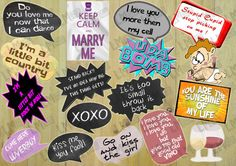 Wedding Props, Engagement Photo Props, Valentines Day Party Props, Love Props, Valentines Photo Booth Props INSTANT DOWNLOAD DIY Printable by LMPhotoProps #download #digital #lmphotoprops