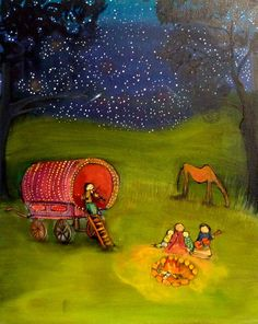 I like this  Under the Stars  Archival Print by johannawright on Etsy, $25.00...