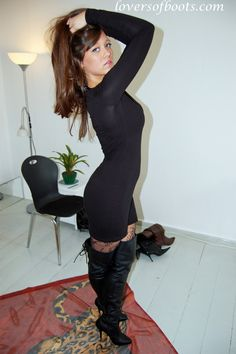 Booted Up Boot Lovers   Update March 26 Lady Blanca in black thigh boots>>