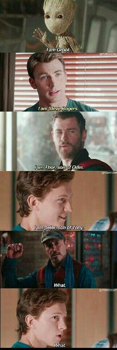 Haha Peter is the son of Tony. Yet Tiny didn't know that