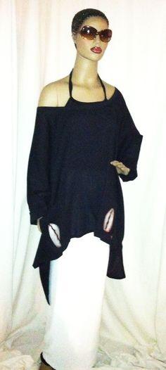 Hand painted cotton gauze tunic $75