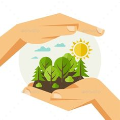 Find Environmental Protection Ecology Concept Illustration Flat stock images in HD and millions of other royalty-free stock photos, illustrations and vectors in the Shutterstock collection. Earth Day Posters, Earth Poster, Flat Illustration, Digital Illustration, Art Environnemental, World Environment Day, Environmental Art, Environmental Protection Poster, Vector Photo