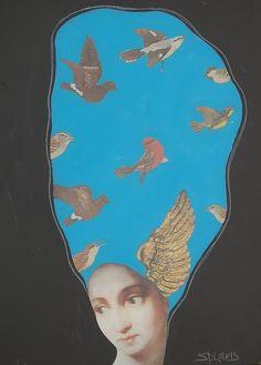 Louis St. Lewis - Wings of Song 35x25