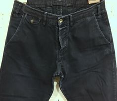 "Paul Smith Vintage Utility Pant Size 34 x 30"" Length Navy Blue Cotton Button Fly #PaulSmith #CasualPants"