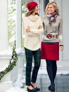 Talbots - Winter Wool Curved-Hem Sweater | New Arrivals | Nov 2015
