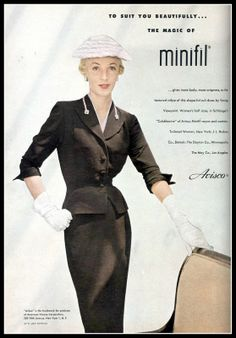 Model in suit from Young Viewpoint, Harper's Bazaar, October 1953