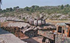 "Croatian T-34/85, 163. Brigada Dubrovnik (""Leopards"") conflict in Yugoslavia."