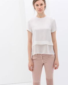 ZARA - NEW THIS WEEK - COMBINED HEM TOP