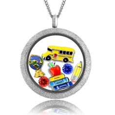 Teacher Gifts for Christmas! Teacher Appreciation Gifts Floating Locket Necklace