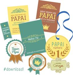 Printable para o dia dos pais en Portugues (finally) Free Printable Tags, Printable Paper, Free Printables, Diy And Crafts, Arts And Crafts, Fathers Day, Stationery, Cool Stuff, Gifts