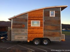 A tiny house on wheels with 1,400 watt solar system (completely off-grid) built by Rocky Mountain Tiny Homes in Durango, Colorado
