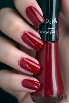 Cereja Flor - Esmalte Vult Perfect Nails, Gorgeous Nails, Pretty Nails, Joy Nails, Beauty Nails, Nails Polish, Nail Polish Colors, Fingernails Painted, Cute Pink Nails