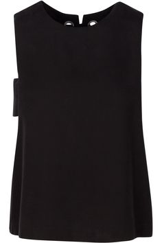 Sleeveless tencel twill grommet top with lace-up back detail body tencel Lace Back, Lace Up, Kendall, Basic Tank Top, Tank Tops, Collection, Women, Fashion, Halter Tops