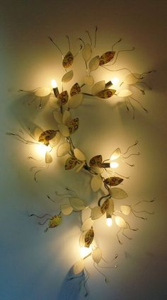 bright branch  by florence gravot   lamp in wire and paper