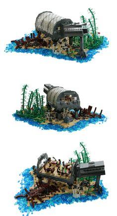 Lego Underwater Restaurant by Tim Schwalf