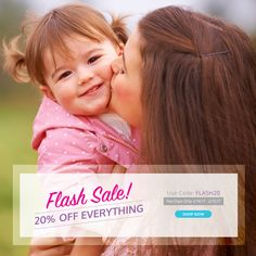 Two Day #FlashSale! Save 20% OFF site-wide. Use code Flash20 at checkout. Exp. 2/15/17 at midnight.