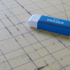 Rotary Cutting Mat ~ Cleaning Tip. As simple as erasing it!