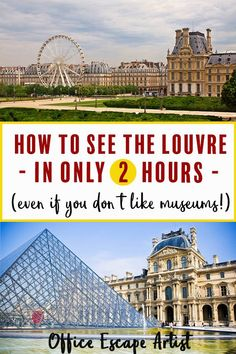 The Louvre is the most visited museum in the world. You could spend days here and still not see everything. Is it worth visiting if you don't know much about art or don't like museums? YES! Here's how to visit the Louvre quickly and efficiently. | Louvre | Paris | Louvre Museum | Mona Lisa | Louvre Art | What to see at the Louvre | How to visit the Louvre in a few hours | What to do in Paris | Louvre tips and tricks | Guide to visiting the Louvre | Paris Louvre, Montmartre Paris, Paris Travel, France Travel, Paris Destination, Cruise Excursions, Paris At Night, Paris Photography, Backpacking Europe