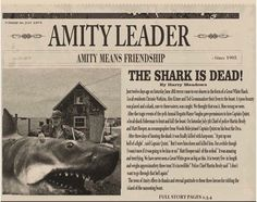 Amity Leader ~ 1975 ~ The Shark is Dead! Jaws Film, Jaws Movie, Horror Icons, Horror Films, Cthulhu, Shark In The Ocean, Le Kraken, Shark Art, Show Me The Way