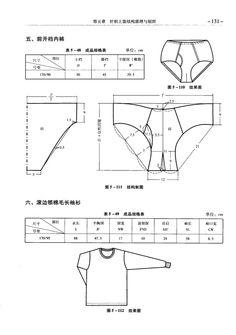 月野紫冰_新浪博客 Underwear Pattern, Sewing Lingerie, Under Pants, Pattern Drafting, Mans World, Pattern Blocks, Sewing Clothes, Boxers, Pattern Making