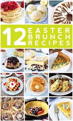12 Easter Brunch Recipes on twopeasandtheirpod.com. Perfect for Easter or anytime of the year!