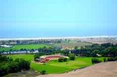 Fundo Mamacona en Pachacamac, con su plaza de toros, en la Panamericana Sur y al fondo el mar celeste. #pachacamac #mamacona #fundomamacona #fundo #limasur #beach #sea #mar
