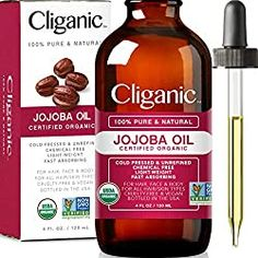 Organic Jojoba Oil Cold Pressed Unrefined Hexane Free Oil for Hair Face Cold Pressed Oil, Best Oils, Hair Growth Oil, Oil Uses, Natural Beauty Tips, How To Treat Acne, Carrier Oils, Massage Oil, Rosacea