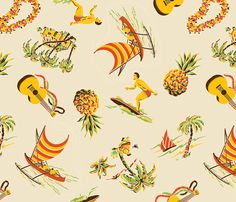 Hawaiiana 1a fabric by muhlenkott on Spoonflower - custom fabric