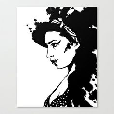 Amy Winehouse Stretched Canvas by MyArti - $85.00