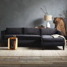 Dunham Down-Filled 2-Piece Chaise Sectional - Box Cushion | west elm