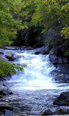 Highlands NC waterfall