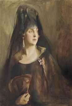 Philip Alexius de László - portrait of queen victoria eugenia of spain