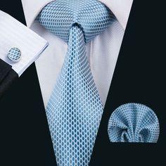 Light Blue Silk Necktie Set LBW1535
