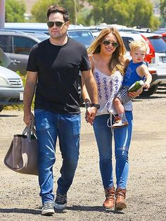 Hilary Duff and Mike Comrie must really love aviators! Check 'em both out in this chic style during a weekend outing with son Luca!