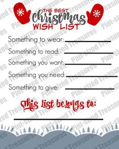 christmas wish list for kids