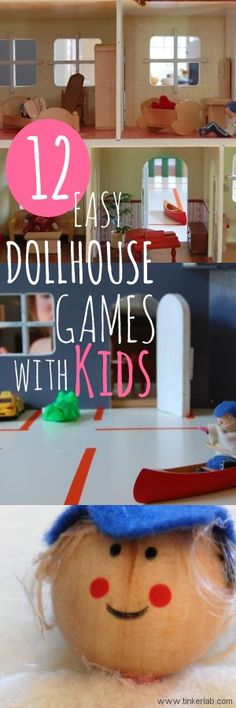 For those times when you're searching for ways to make playing with doll houses more fun,12 must-read doll house games and ideas, from Tinkerlab.com  #dollhouse #kids #play #games #preschool