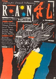 Polish poster for RAN (Akira Kurosawa, Japan, 1985) Designer: Andrzej Pagowski (b. 1953)